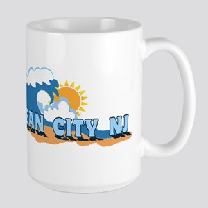 Ocean City NJ - Waves Design Mugs